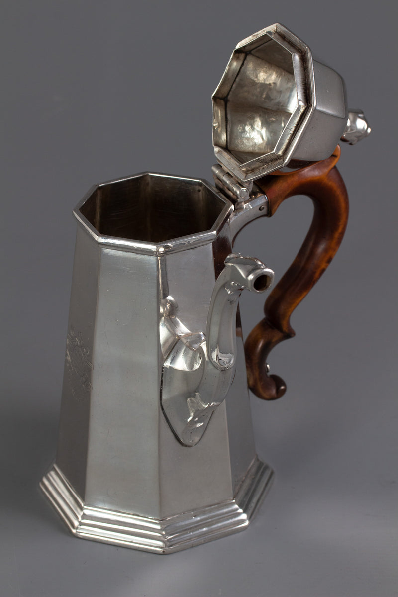 A George I Britannia Silver Coffee Pot London 1716 by John Chartier