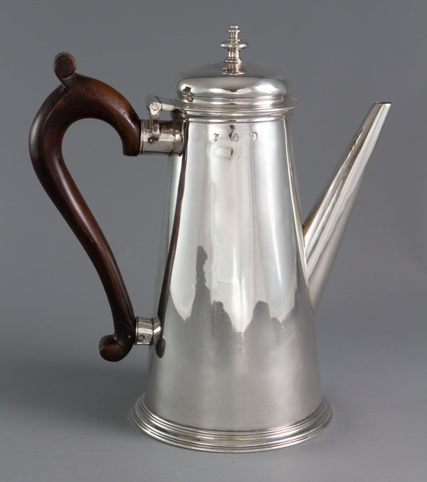 An Irish George II Silver Coffee Pot, Dublin 1732 by Joseph Jackson