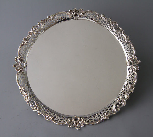 A Rare & Superb George II Huguenot Silver Salver by Samuel Courtauld, London 1759