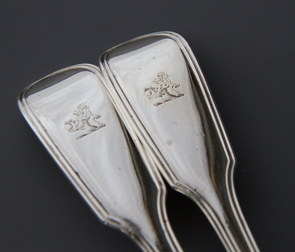 A Very Fine Set of  Georgian/Victorian Silver Cutlery for Six