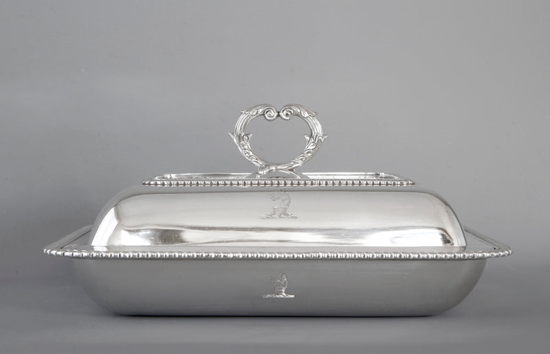 A Very Fine Georgian Silver Entree Dish London 1810 by John Foskett & John Stewart