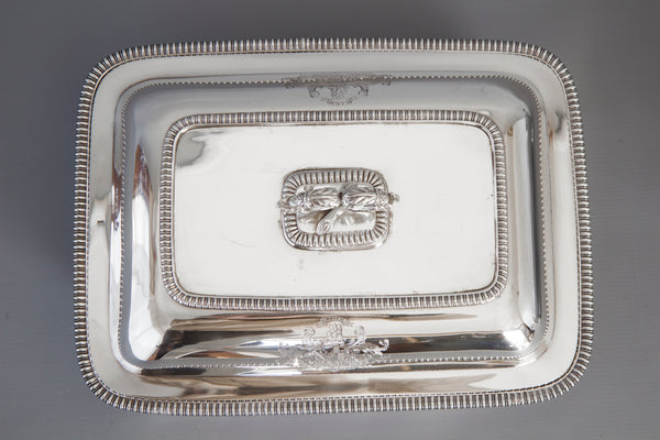 A Very Fine Large Silver Entree Dish with Warming Dish London 1814 by Thomas Robins