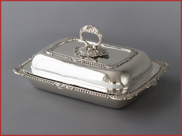 A Superb Georgian Silver Entree Dish London 1814 by William Eliot