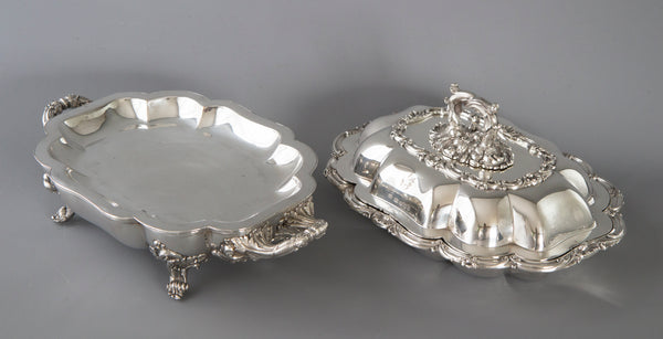 A Very Fine William IV Silver Entree Dish and Warmer Sheffield 1832