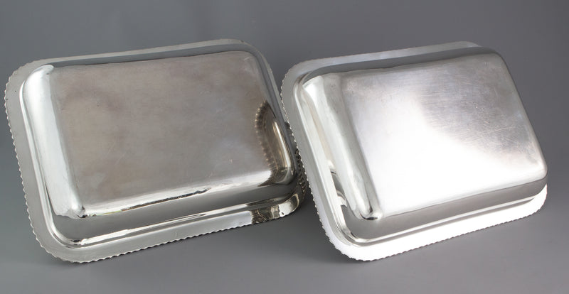 An Excellent Pair of Georgian Silver Entree or Serving Dishes London 1821 by Joseph Craddock and William Reid