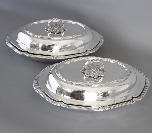 A Superb Pair of Victorian Silver Entree Dishes London 1896