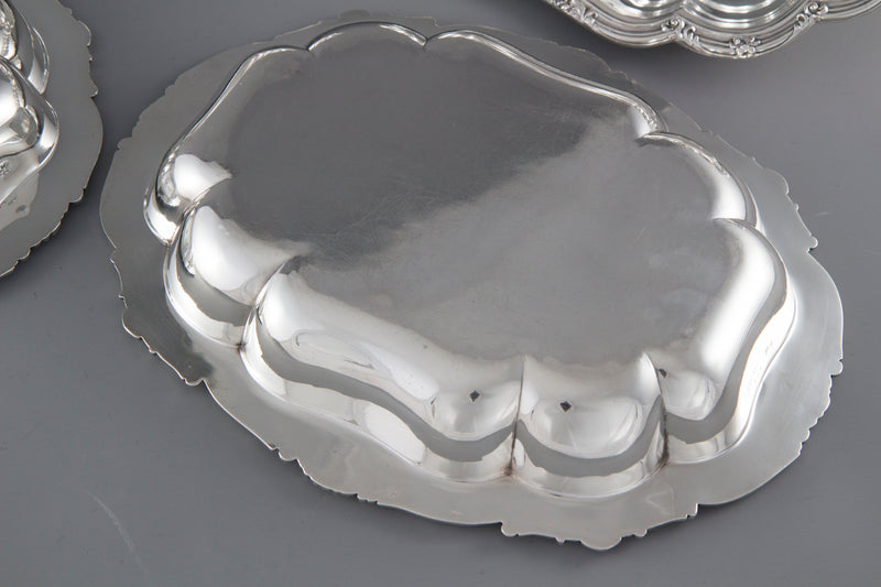 A Pair of Victorian Silver Entree or Serving Dishes London 1855 by Edward and John Barnard