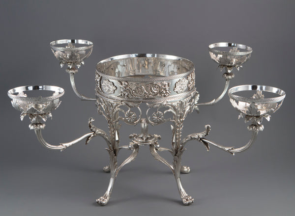 An Impressive George III Silver Epergne or Centrepiece, London 1808 by William Pitts