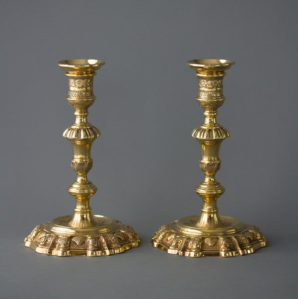 Silver-Gilt Candlesticks George II Edward Aldridge