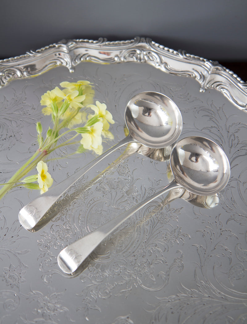 A Pair of Georgian Silver Ladles London 1792 by Thomas Northcote