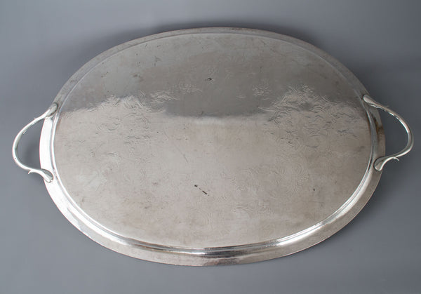 A Large Georgian Silver Tea/Drinks Tray  London 1806 William Bennett