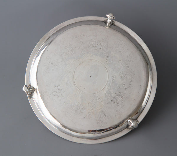 A Beautiful Queen Anne Britannia Salver by Nathaniel Lock, London 1702