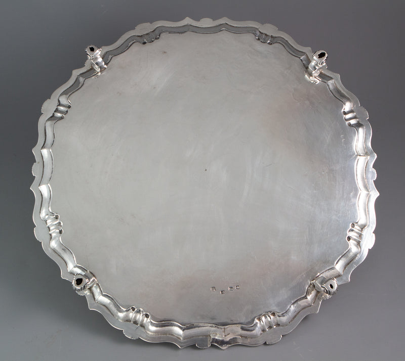 A Large George II Silver Salver London 1738 by John Tuite