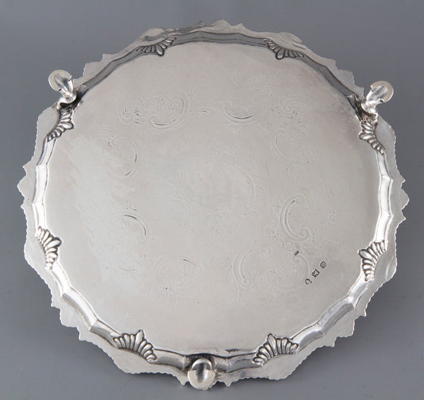 A Fine George III Silver Salver London 1763 by Richard Rugg