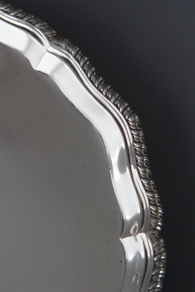 A Silver Salver/Waiter by the Barnard Bros. London 1899.