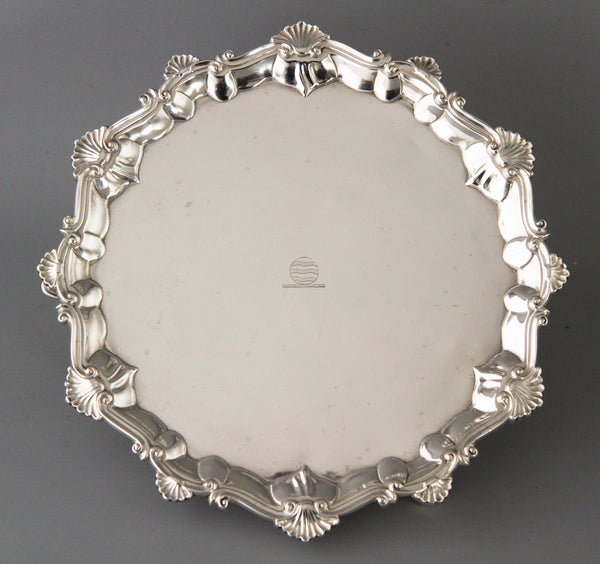 A Very Fine George III Silver Salver, Elizabeth Cooke, London 1766