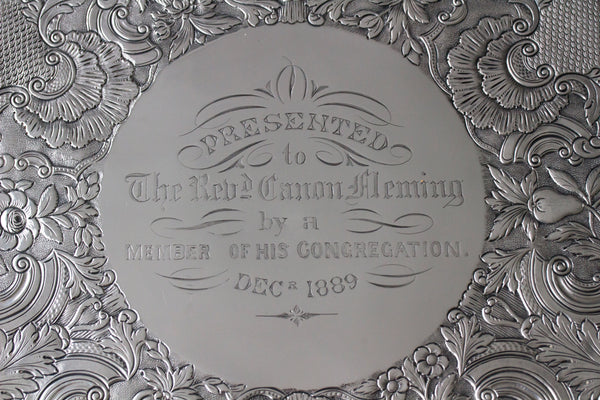 A Magnificent William IV Irish Silver Salver Dublin 1835