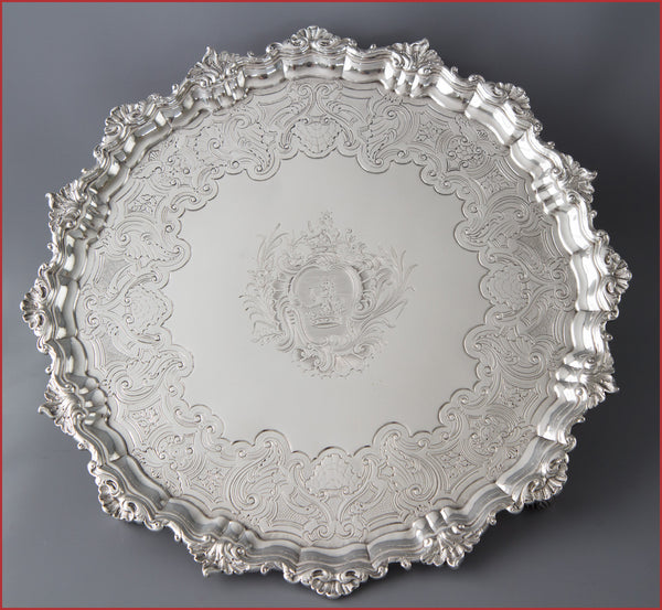 A Very Fine George II Silver Salver London 1743