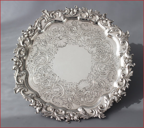 A Superb Regency Paul Storr Silver Salver, London 1823