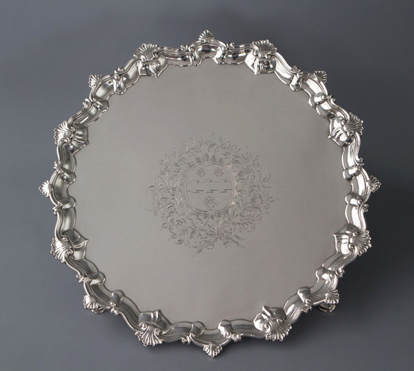 Superb George II Silver Salver, Richard Rugg, London 1759