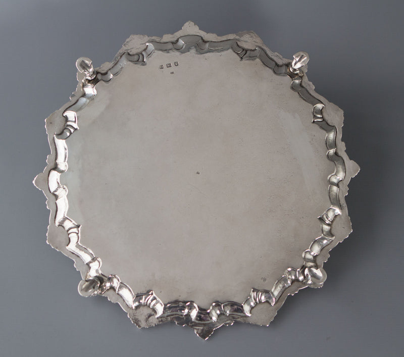 A Superb George II Silver Salver, Richard Rugg, London 1759