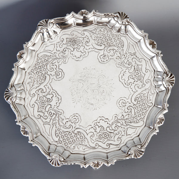 A Good Quality George II Silver Salver London 1740 by Robert Abercromby