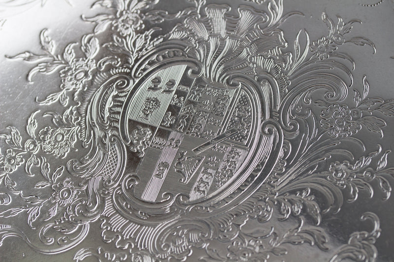 A Superb Georgian Silver Salver by Richard Rugg London 1768