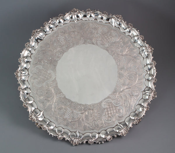A Large and Important George IV Silver Salver London 1828