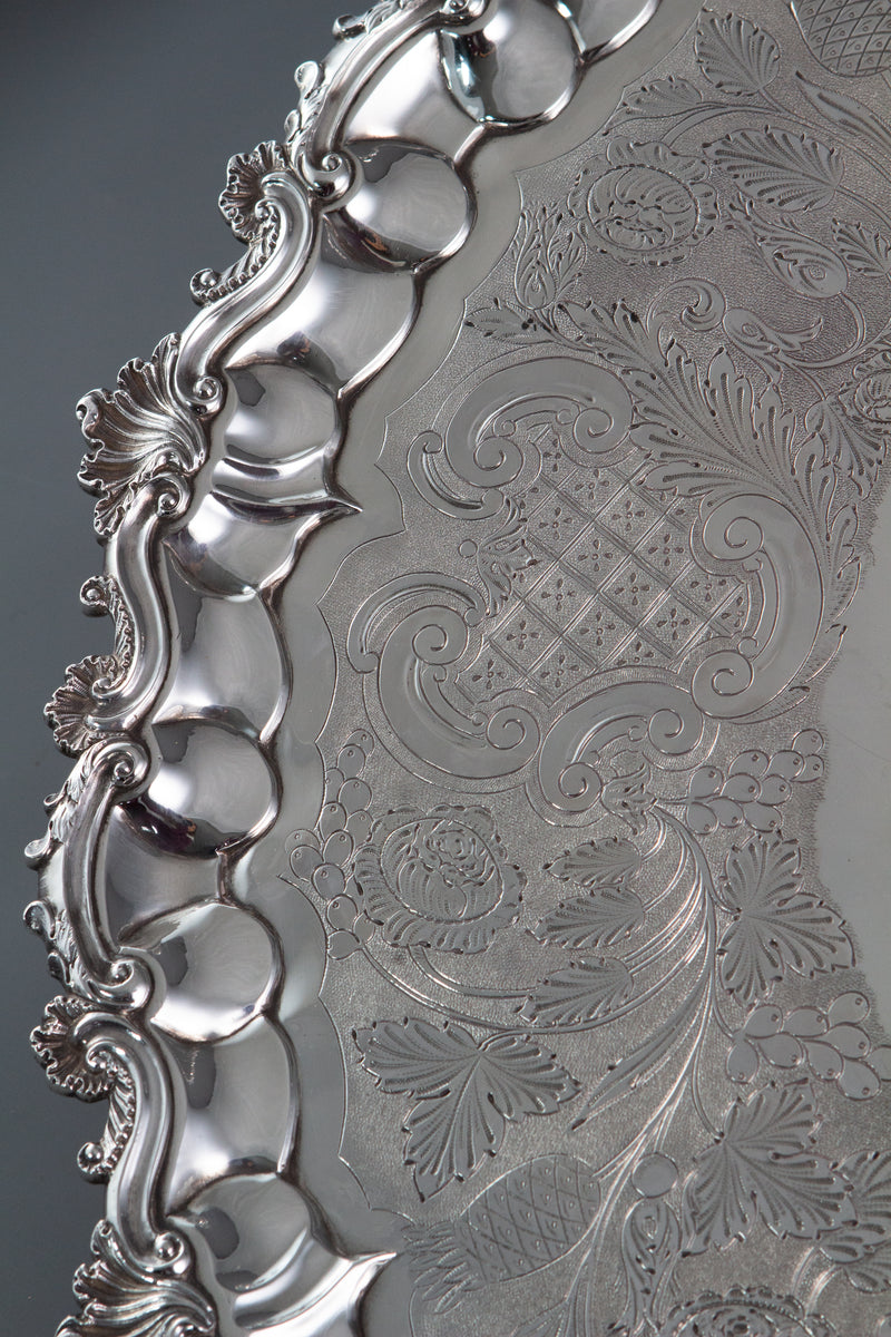 A George IV Silver Salver London 1828 by William Eley II
