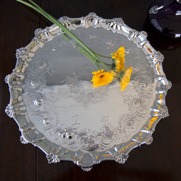 A Georgian Silver Salver/Tray London 1810 by William Pitts