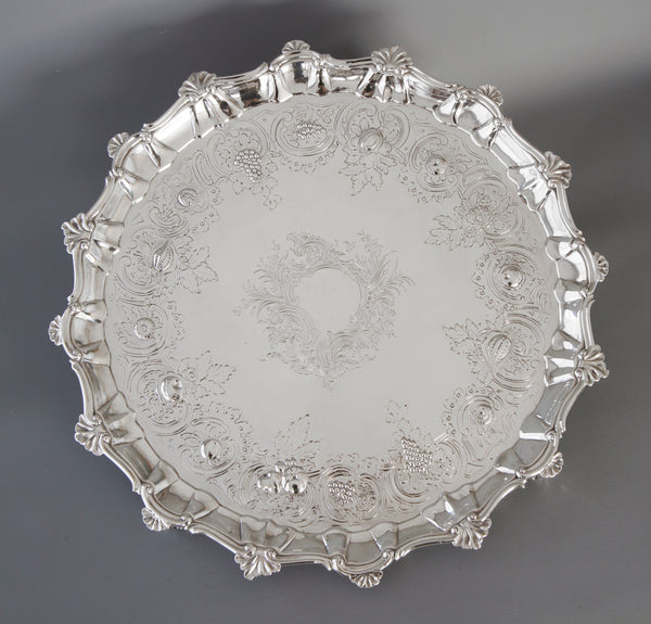 A Very Large Georgian Silver Salver/Tray London 1810 by William Pitts