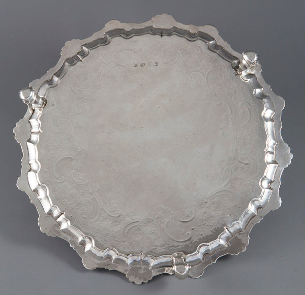 A George II Silver Salver London 1754 by William Peaston