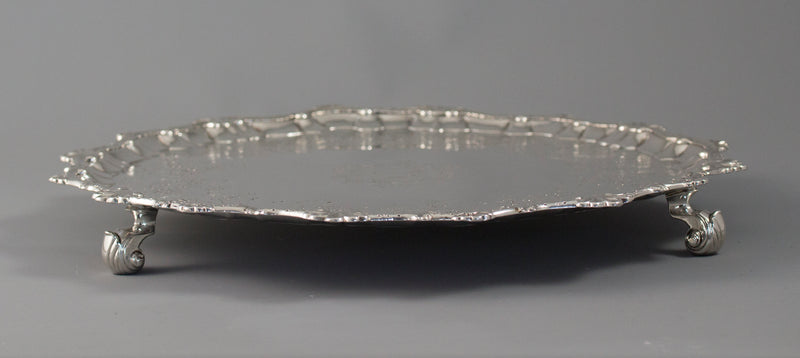 A Very Good George II Silver Salver London 1754 by William Peaston