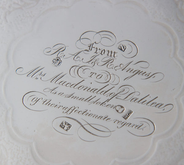 A Very Fine George IV  Silver Salver Sheffield 1822 by J.T.Younge and Co.