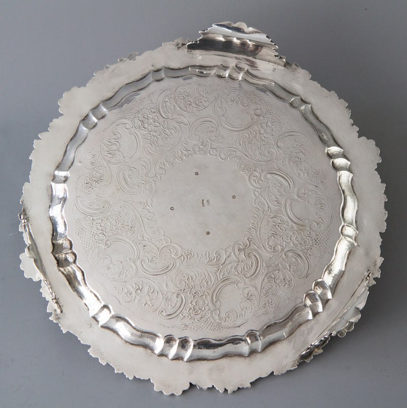 A Very Fine Scottish Silver Salver Edinburgh 1833