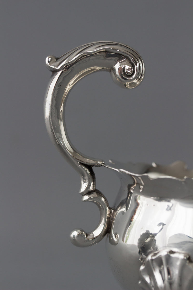 A Very Fine Pair of George II Silver Sauce Boats London 1752 by David Bell and Richard Mills