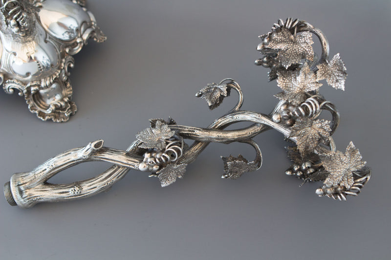 A Spectacular Late 19C Silver Plate Table Centrepiece Candelabra