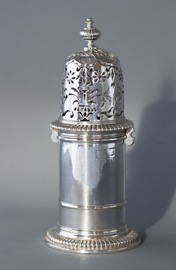 A very rare William III britannia silver lighthouse caster, London 1698 by Andrew Raven