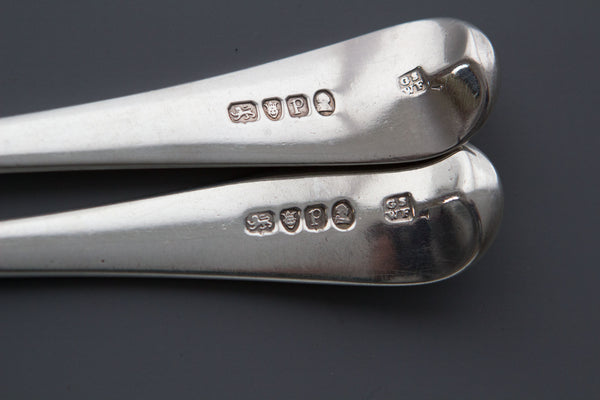 A Fine Pair of Georgian Silver Basting Spoons London 1790 by George Smith and William Fearn