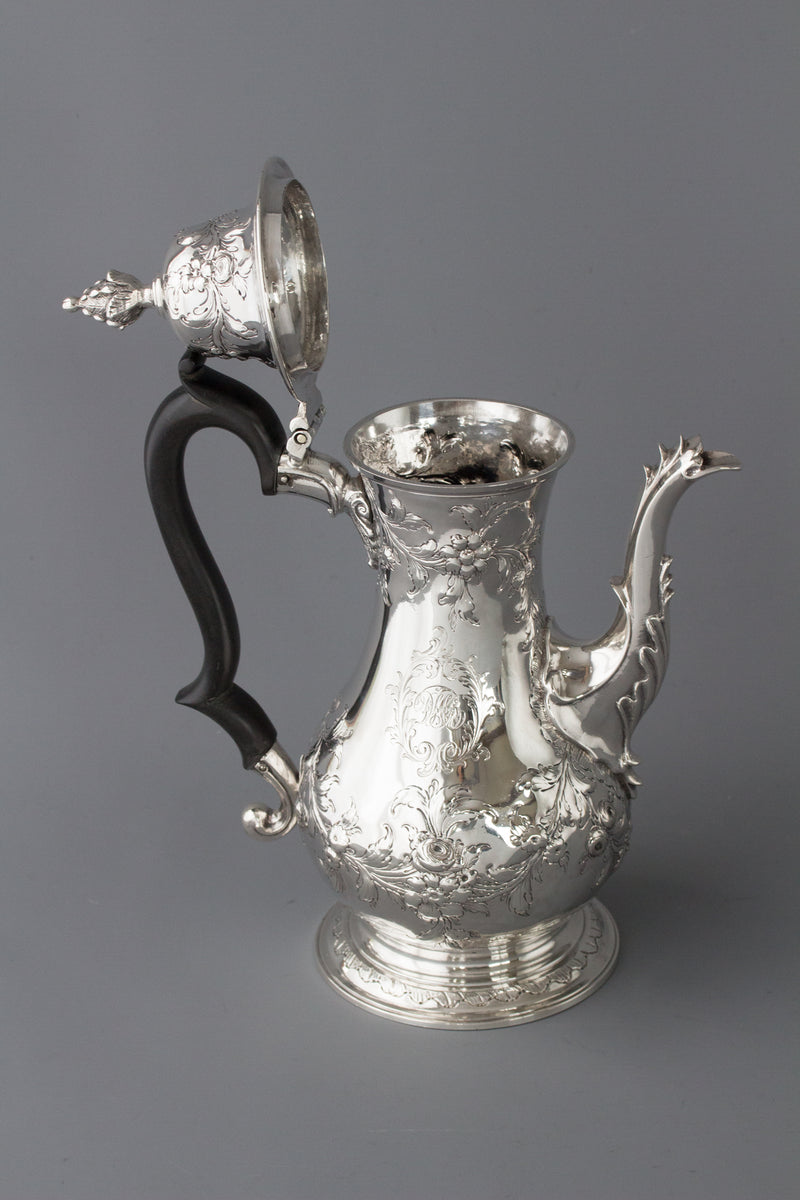 A Georgian Silver Coffee Pot London 1770 by Walter Brind