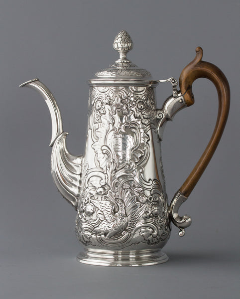 An Exceptional George II Irish Silver Coffee Pot, Dublin circa 1734