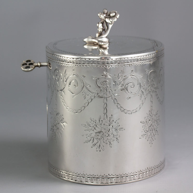 A George III Silver Tea Box or Caddy London 1772 by Aaron Lestourgeon