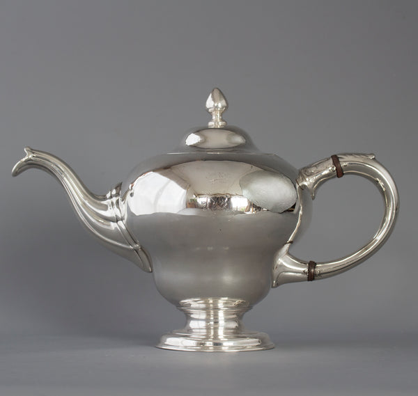 A George II Scottish Silver Teapot, by Edward Lothian, Edinburgh 1749