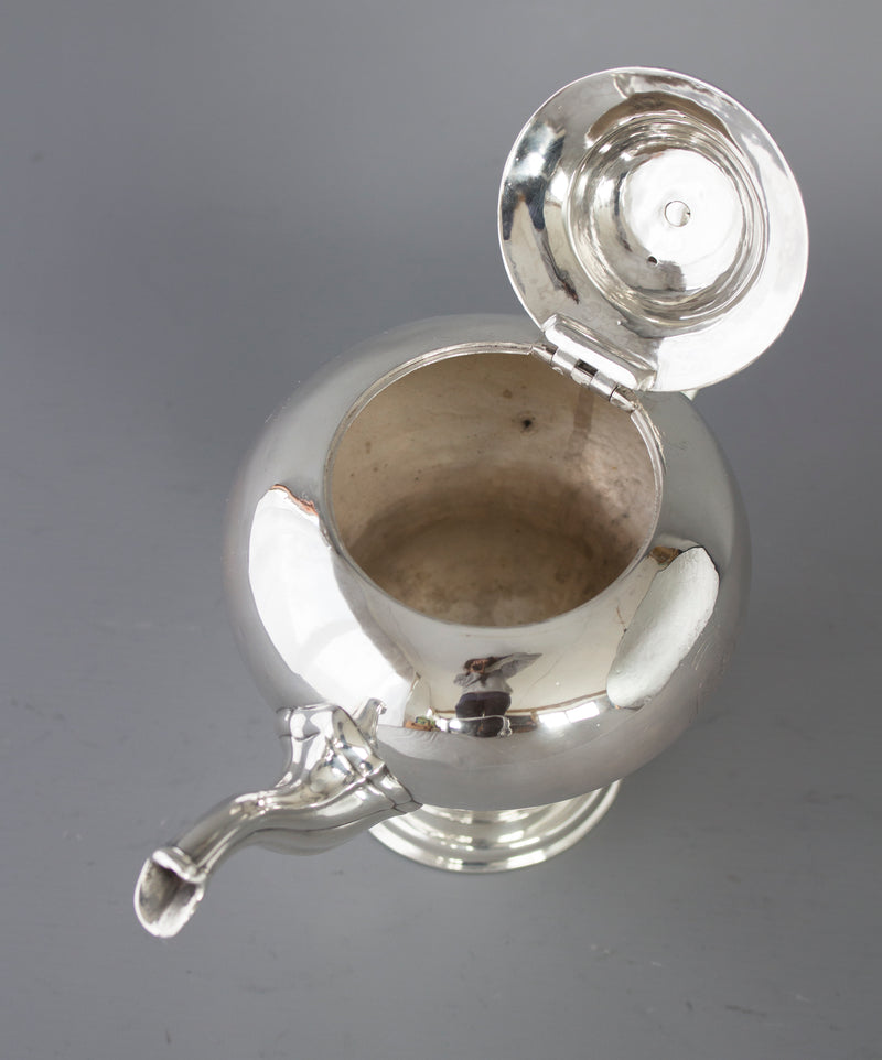 A Rare & Superb George II Scottish Silver Teapot, by Edward Lothian, Edinburgh 1749