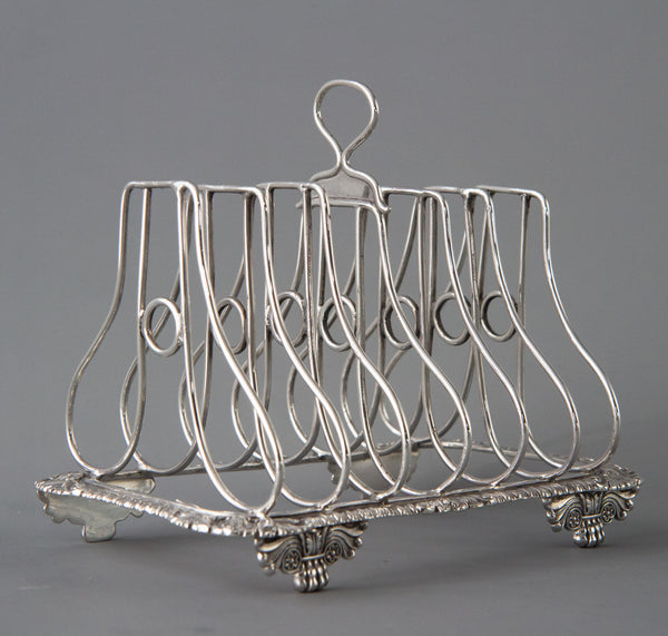 A Very Good Silver Seven Bar Toast Rack London 1815 by Joseph Angell