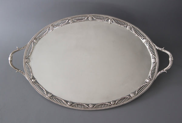 A Superb Early George III Silver Drinks Tray, London 1769 by Thomas Heming