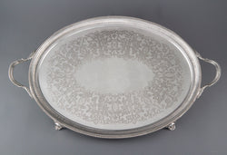 A Late Victorian Silver Tea or Drinks Tray London 1886 by Charles Boyton