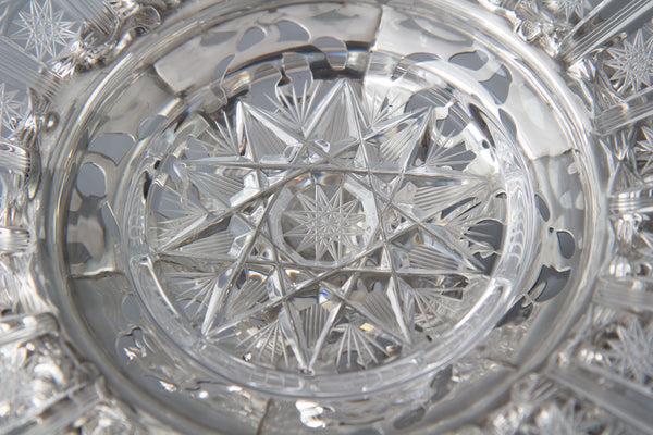 An Early Victorian Silver and Glass Table Centrepiece or Comport Birmingham 1845 by Robinson, Edkins and Aston