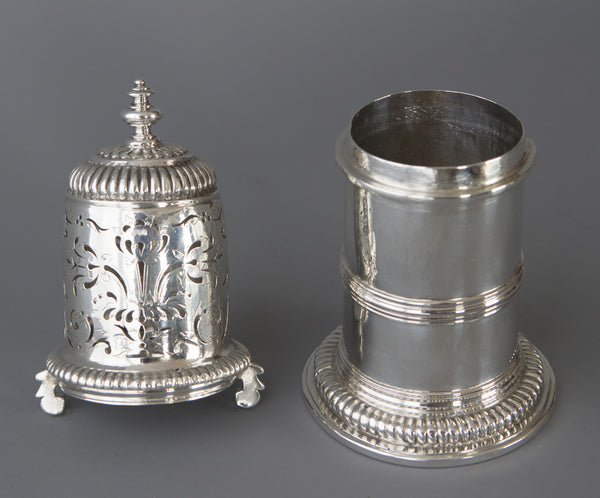 A very rare William III britannia silver lighthouse caster, London 1698 by Joseph Ward