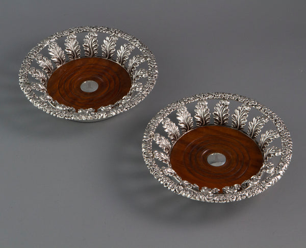 A Very Fine Pair of George III Silver Wine Coasters  Sheffield 1818 by John and Thomas Settle